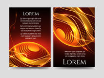 Brochure flyers template with light sphere Stock Photography