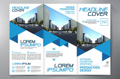 Brochure 3 fold flyer design a4 template. Stock Photography