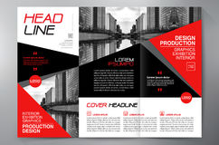 Brochure 3 fold flyer design a4 template. Business Brochure. Flyer Design. Leaflets 3 fold Template. Cover Book and Magazine. Annual Report Vector illustration Stock Photography