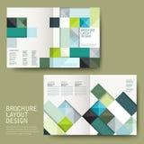 Brochure géométrique de calibre de moitié-pli de style illustration stock