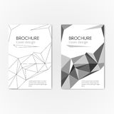 Brochure geometric background. Modern business brochure abstract geometric background. Gray geometric triangles, lines and shape. Vector illustration cover Royalty Free Stock Photo