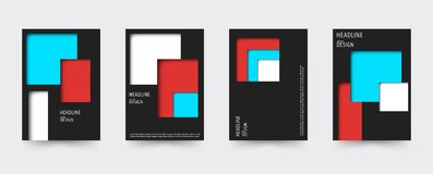 Brochure gradient cover template set Royalty Free Stock Photo