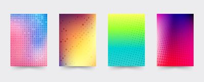 Brochure gradient cover template set Royalty Free Stock Photography