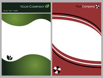 Brochure graphic set 4. A set of two background useful as brochure,business card.Just add your text,image,logo.EPS file available Stock Photography