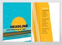Brochure grunge de pneu illustration stock