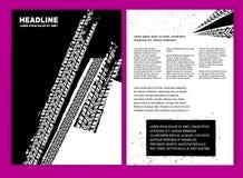 Brochure grunge de pneu illustration de vecteur