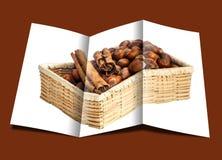 Brochure of hazelnuts Stock Images