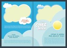 Brochure - het Ontwerp van het Vliegermalplaatje voor jong geitje stock foto's