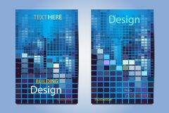 Brochure illustration  structure geometric vector design. Modern magazine layout template,Flyer cover business brochure illustration cityscape structure Stock Image