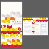 Brochure Layout Design. Geometric Brochure Layout Design Template Stock Image