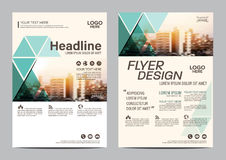 Brochure Layout design template. Annual Report Flyer Leaflet cover Presentation Modern background. illustration  in A4 Stock Image