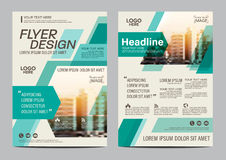 Brochure Layout design template. Annual Report Flyer Leaflet cover Presentation Modern background. illustration  in A4 Royalty Free Stock Photography
