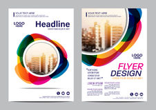 Brochure Layout design template. Annual Report Flyer Leaflet cover Presentation Modern background. illustration vector. Coloful Brochure Layout design template royalty free illustration