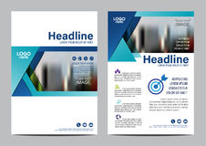 Brochure Layout design template. Annual Report Flyer Leaflet cover Presentation Modern background. illustration vector in A4 Royalty Free Stock Photo