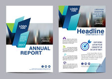 Brochure Layout design template. Annual Report Flyer Leaflet cover Presentation Modern background. illustration vector in A4 Royalty Free Stock Image
