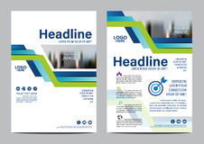 Brochure Layout design template. Annual Report Flyer Leaflet cover Presentation Modern background. illustration vector in A4 Stock Photo