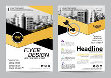 Brochure Layout design template. Annual Report Flyer Leaflet cover Presentation Modern background. illustration  in A4 Stock Images
