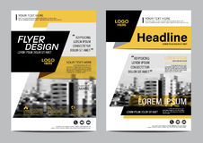 Brochure Layout design template. Annual Report Flyer Leaflet cover Presentation Modern background. illustration  in A4 Royalty Free Stock Photo