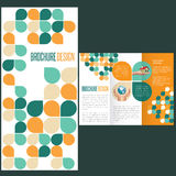 Brochure Layout Design Template. Flat Brochure Layout Design Template Stock Images
