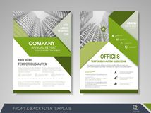 Brochure layout design template Royalty Free Stock Photography