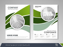 Brochure layout design template Royalty Free Stock Photo