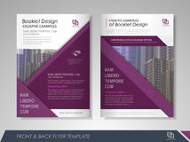Brochure layout design template Stock Images