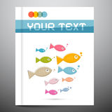 Brochure Layout with Fish Royalty Free Stock Photography