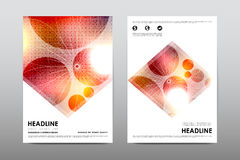 Brochure layout template flyer design vector, Magazine booklet cover abstract background Stock Image