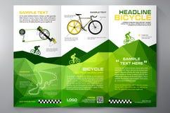 Brochure leaflet design tri-fold template. Stock Photo