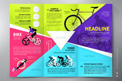 Brochure leaflet design tri-fold vector template. Royalty Free Stock Images