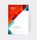 Brochure, leaflet, flyer, poster template. cover design. stock-vector abstract background. EPS 10 Stock Images