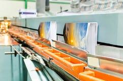 Brochure and magazine stitching process Royalty Free Stock Photo