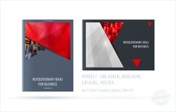 Brochure design rectangular template. Colourful modern abstract set, annual report with material design for branding. Brochure material design style template Stock Image