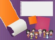 Brochure met kinderen vector illustratie