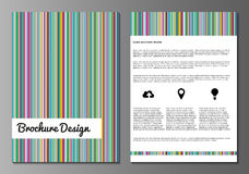 Brochure minnimalistic design templates Stock Image