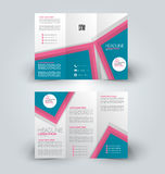 Brochure mock up design template for business, education, advertisement. Royalty Free Stock Image