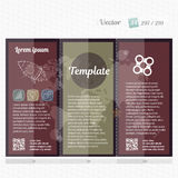 Brochure mock up design template for business, education, advertisement. Trifold booklet editable printable vector. Illustration Stock Photo