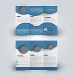 Brochure mock up design template for business, education, advertisement. Royalty Free Stock Photography