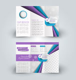 Brochure mock up design template for business, education, advertisement. Stock Photography