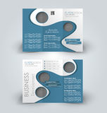 Brochure mock up design template for business, education, advertisement. Royalty Free Stock Photo