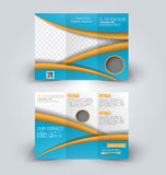 Brochure mock up design template for business, education, advertisement. Stock Image