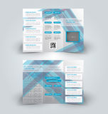 Brochure mock up design template for business, education, advertisement. Trifold booklet Royalty Free Stock Photo