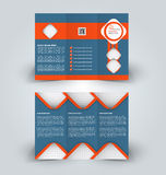 Brochure mock up design template for business, education, advertisement. Trifold booklet Stock Photo