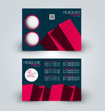 Brochure mock up design template for business, education, advertisement. Trifold booklet Royalty Free Stock Images