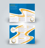 Brochure mock up design template for business, education, advertisement. Trifold booklet Royalty Free Stock Photos