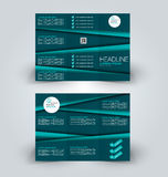 Brochure mock up design template for business, education, advertisement. Trifold booklet Stock Photos