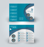 Brochure mock up design template for business, education, advertisement. Stock Photo