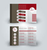 Brochure mock up design template for business, education, advertisement. Trifold booklet Stock Images