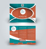 Brochure mock up design template for business, education, advertisement. Trifold booklet Stock Image