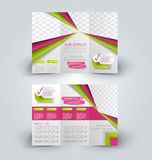 Brochure mock up design template for business, education, advertisement. Royalty Free Stock Images